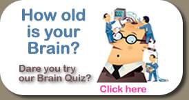 Brain Quiz How Old is your Brain